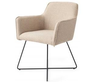 2 x Hofu Spisebordsstole H82 cm polyester - Sort/Lys valnød