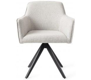 2 x Hofu Rotérbare Spisebordsstole H82 cm polyester - Sort/Gråmeleret