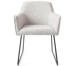 2 x Hofu Spisebordsstole H82 cm polyester - Sort/Gråmeleret
