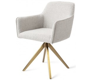 2 x Hofu Rotérbare Spisebordsstole H82 cm polyester - Guld/Gråmeleret
