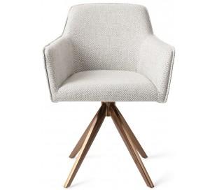 2 x Hofu Rotérbare Spisebordsstole H82 cm polyester - Rødguld/Gråmeleret