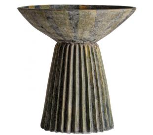 Plissé Amphora opsats i terracotta H120 cm x Ø95 cm - Antik grågrøn