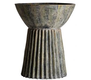 Plissé Amphora opsats i terracotta H102 cm x Ø96 cm - Antik grågrøn