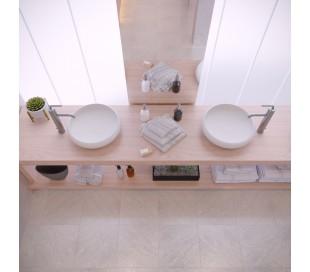 Ideavit Solidego bordmonteret håndvask Ø40 cm Solid surface - Mat hvid