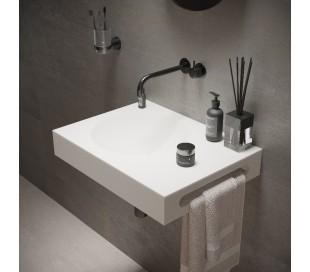 Ideavit Solidnext vægmonteret håndvask 60 x 45 cm Solid surface - Mat hvid