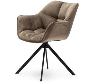 Carnaby Spisebordsstol i velour og metal H80 cm - Sort/Gyldent