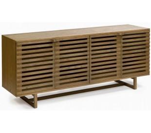 Sideboard i egetræ B180 cm - Rustik natur