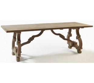 Rustikt spisebord i egetræ 230 x 90 cm - Gråbejset