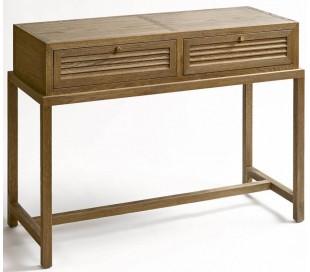 Rustikt konsolbord i egetræ B100 cm - Børstet eg