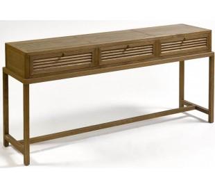 Rustikt konsolbord i egetræ B160 cm - Børstet eg