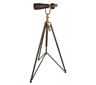 Authentic Models Teleskop på tripod stativ H170 cm - Mørkebrun/Messing