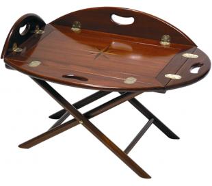 Authentic Models Butler bord 59 x 47 cm - Vintage honning