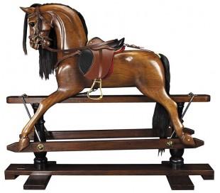 Authentic Models Viktoriansk gyngehest H121 cm - Mørkebrun
