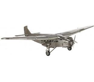 Authentic Models Ford Trimotor Fly 102 x 67 cm - Poleret sølv