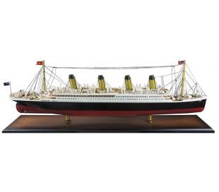 Authentic Models Titanic Skib B92 cm - Hvid/Honningbrun