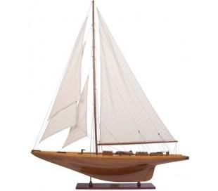 Authentic Models Shamrock Yacht B100 cm - Hvid/Honningbrun