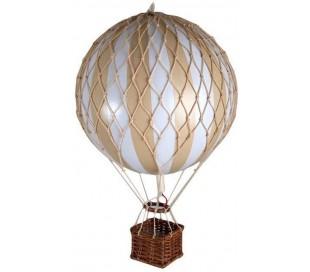 Authentic Models Jules Verne Luftballon H70 x Ø42 cm - Hvid/Elfenbenshvid