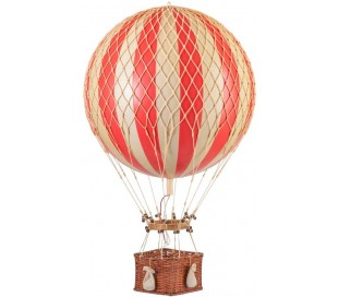 Authentic Models Jules Verne Luftballon H70 x Ø42 cm - Rød/Elfenbenshvid