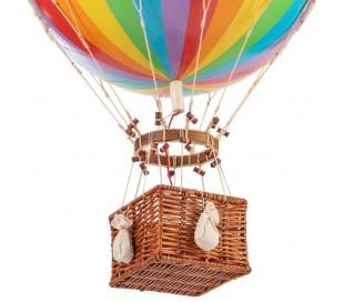 Authentic Models Jules Verne Luftballon H70 x Ø42 cm - Regnbue