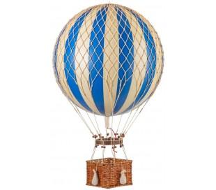 Authentic Models Jules Verne Luftballon H70 x Ø42 cm - Blå/Elfenbenshvid
