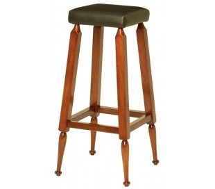 Authentic Models Barstol H76 cm - Vintage honningbrun/Sort