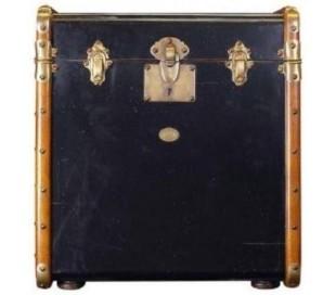 Authentic Models Kuffert sidebord 53 x 45 cm - Vintage honning/Vintage sort