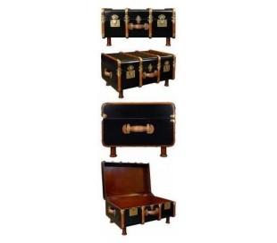 Authentic Models Kuffert sofabord 58 x 82 cm - Vintage honning/Vintage sort
