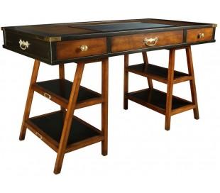 Authentic Models Skrivebord 140 x 70 cm - Vintage honningbrun/Vintage sort