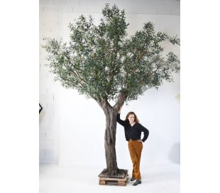 Stort kunstigt Oliventræ H390 cm