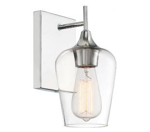 Octave 1 Væglampe H24 cm - Krom/Klar