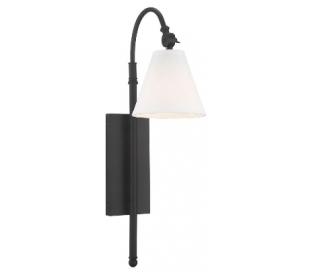 Rutland 1 Væglampe H62 cm - Bronze/Hvid