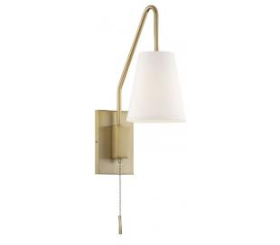 Owen 1 Væglampe H31 cm - Varm messing/Hvid