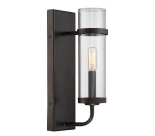 Tulsa 1 Væglampe H35 cm - Antik bronze/Klar