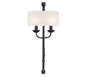 Oberon 2 Væglampe H64 cm - Antik bronze/Hvid