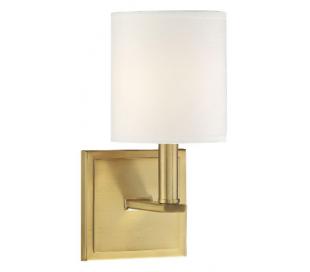 Waverly Væglampe H28 cm - Varm messing/Hvid