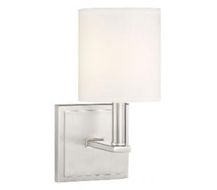 Waverly Væglampe H28 cm - Satineret nikkel/Hvid