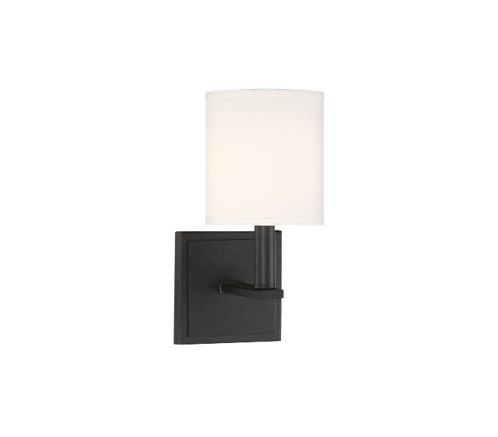 Waverly Væglampe H28 cm - Mat sort/Hvid