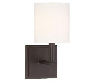 Waverly Væglampe H28 cm - Antik bronze/Hvid