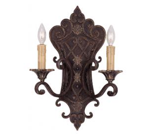 Southerby 2 Væglampe H48 cm - Antik bronze/Antik creme