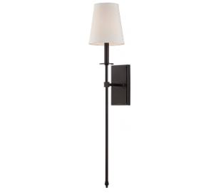 Monroe 1 Væglampe H85 cm - Antik bronze/Hvid