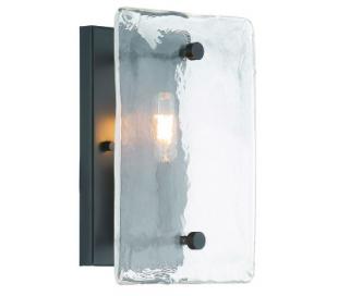 Glenwood 1 Væglampe H28 cm - Antik bronze/Bølget klar