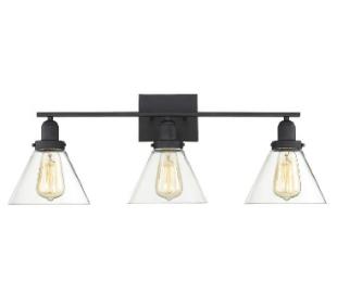 Drake 3 Badeværelseslampe B72 cm - Mat sort/Klar