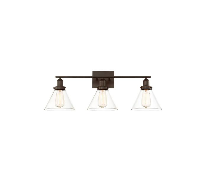 Drake 3 Badeværelseslampe B72 cm - Antik bronze/Klar