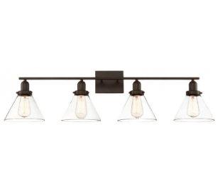 Drake 4 Badeværelseslampe B97 cm - Antik bronze/Klar