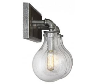 Dansk 3 Badeværelseslampe B54 cm - Galvaniseret metalgrå/Klar med dråbe effekt