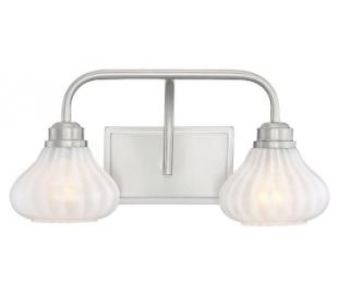Darlington 2 Badeværelseslampe B46 cm - Satineret nikkel/Opalhvid