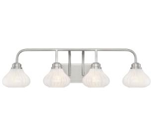 Darlington 4 Badeværelseslampe B86 cm - Satineret nikkel/Opalhvid