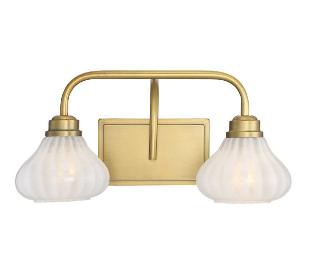 Darlington 2 Badeværelseslampe B46 cm - Varm messing/Opalhvid