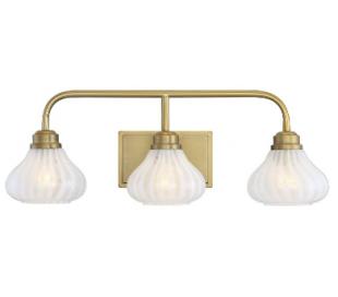 Darlington 3 Badeværelseslampe B65 cm - Varm messing/Opalhvid