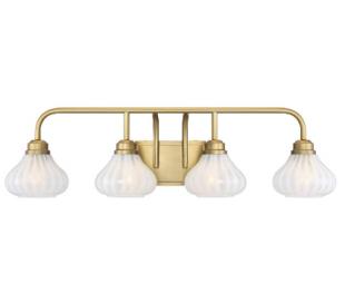 Darlington 4 Badeværelseslampe B86 cm - Varm messing/Opalhvid